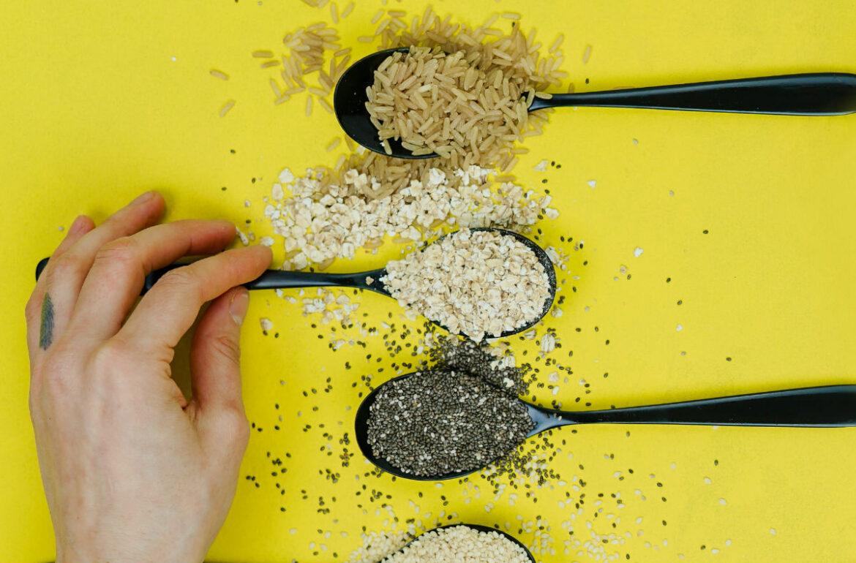 Grains on tablespoon