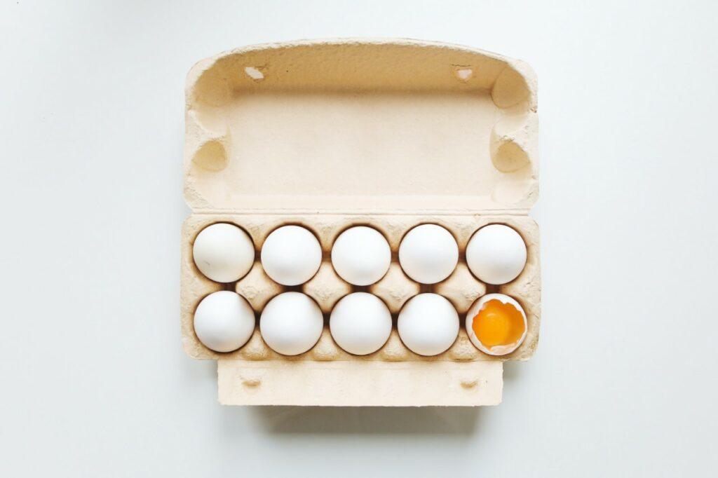 Eggs in a crate