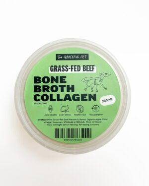 The Grateful Pet Grass-fed Beef Bone broth collagen